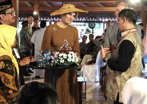 Queen Maxima wore a new polka-dot print dress by Zimmermann. It is the largest Hindu Javanese temple complex in Indonesia