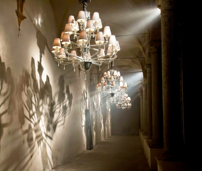 Barovier Toso S Murano Glass Chandeliers Exhibited In Milan At The San Sempliciano Courtyard Picture Courtesy Of Marcel Wanders