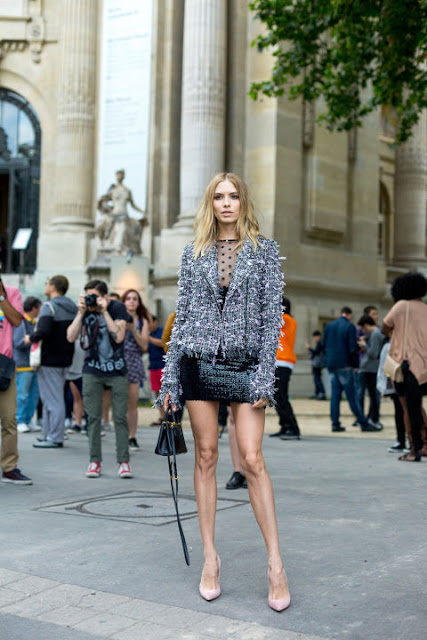 Fashion Week in Paris: Elena Perminova in Dior