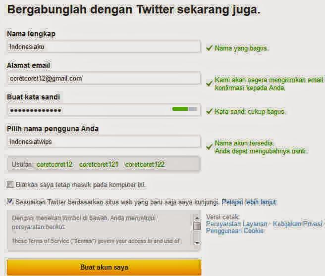praktis dan tidak butuh waktu yang usang Kabar Terbaru- CARA MEMBUAT TWITTER / Cara Daftar Twitter Terbaru