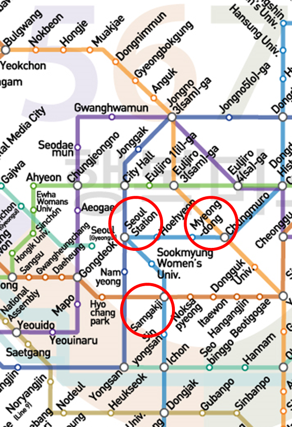 Seoul Station Subway Map.See The Seoul Subway Lines 1 6 Street In Korea