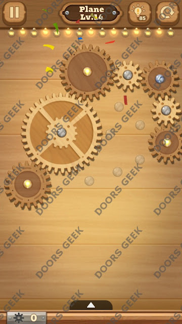 Fix it: Gear Puzzle [Plane] Level 14 Solution, Cheats, Walkthrough for Android, iPhone, iPad and iPod