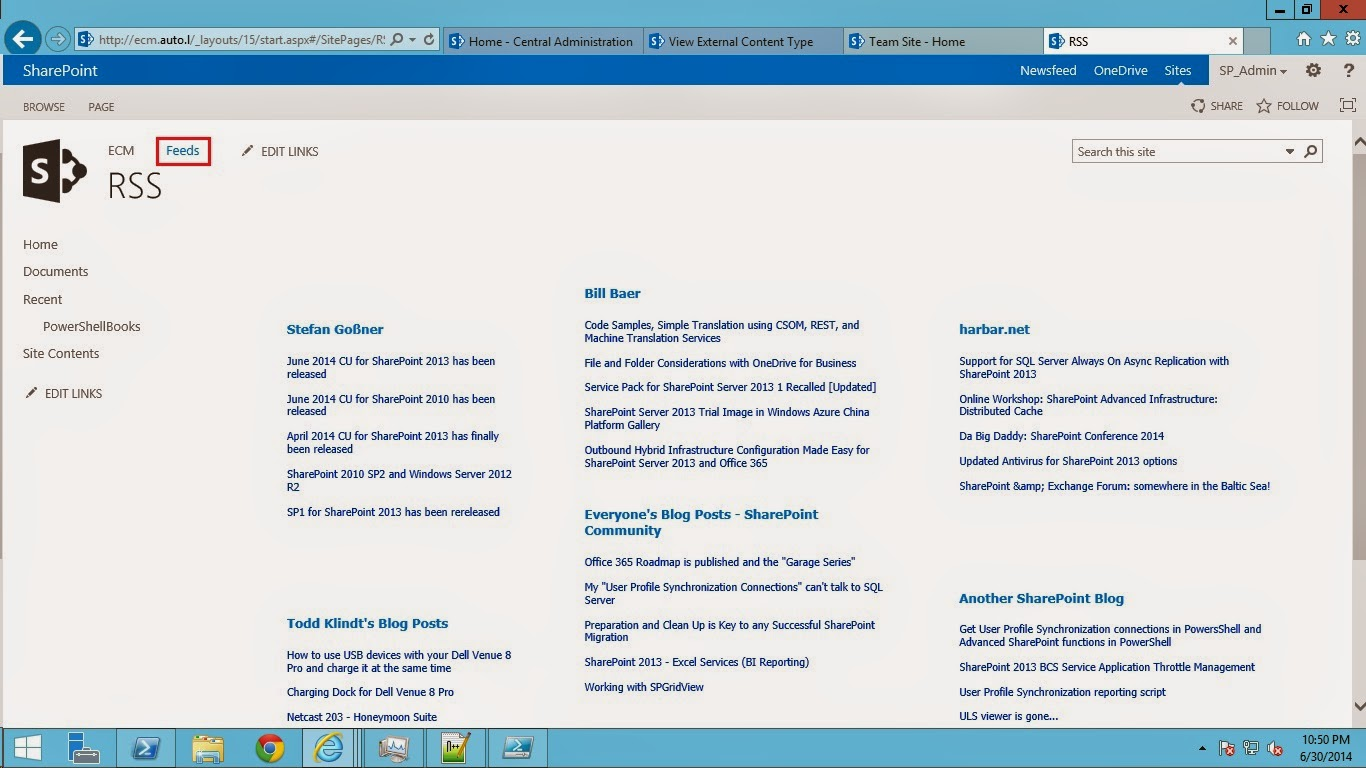 Feed: SharePoint Trenches: RSS Feeds Web Part Page In SharePoint