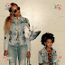Beyonce and daughter Blue Ivy in matching Denim outfits