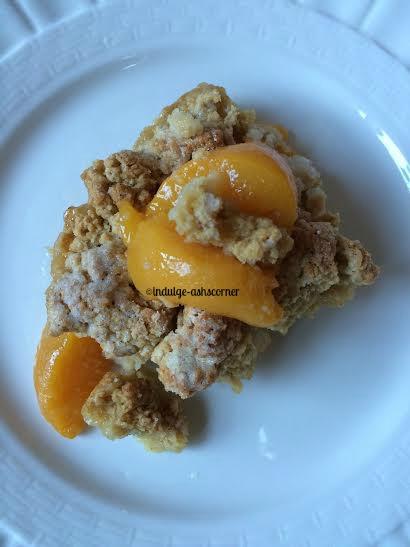 Peach Cobbler-Whole wheat Crumble