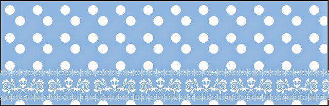 Light Blue with White Polka Dots Free Printable Labels.