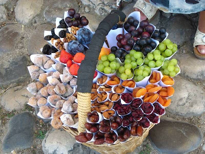 Nuts and fruits in Pocitelj