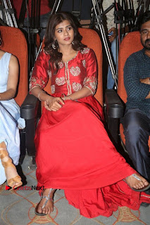 Actress Heba Patel Latest Stills in Red Dress at Mister Movie Trailer Launch Event  0033.jpg