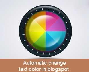 Tự động thay đổi màu chữ cho blogspot với css