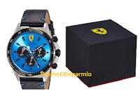 Logo Scuderia Ferrari Orologio Cronografo al Quarzo: solo 3 disponibili sconto 50% da 275€ a 137,50! Affrettati