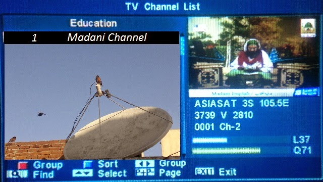 Madani channel frequency asiasat 3s | Channel Frequency List