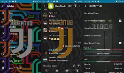 BBM Mod Juventus Time Background Color V3.2.5.12 Apk Terbaru