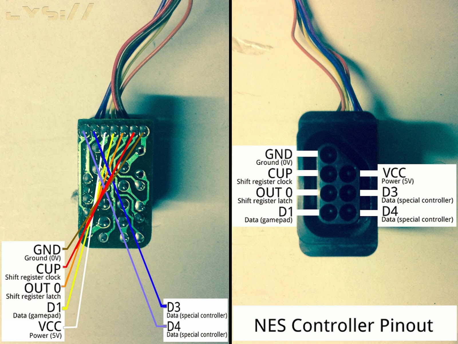 hight resolution of i checked a pinout diagram for the nes online pretty straightforward