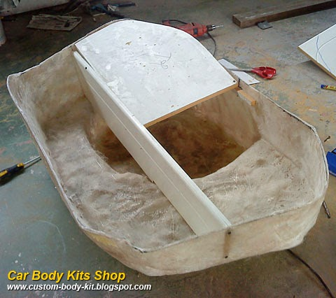 Custom Fiberglass Woofer Box for Mazda Rx7 | Custom Body