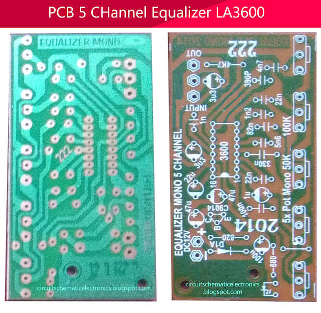 PCB Design 5 Channel Equalizer Using IC LA3600