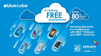 FIRST by Celcom Free Smartphones Blue Cube Weekend