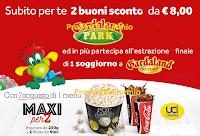 Logo Con UCI e Coca-Cola 2 buoni sconto Gardaland come premio sicuro e vinci Gardaland Resort per 4 persone!