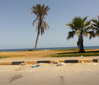 Tripoli beach this morning
