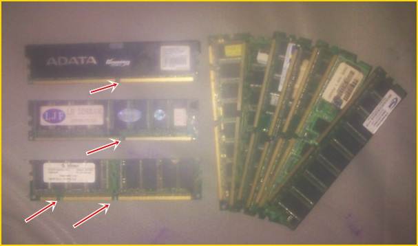 Gambar dan Keterangan Umum mengenai RAM (Memori untuk Desktop Komputer)
