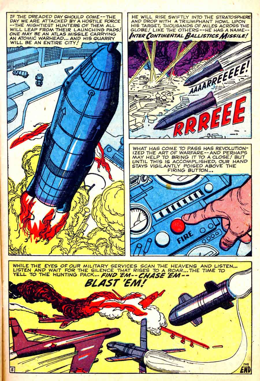 Jack Kirby silver age 1950s atlas war comic book page - Battle #65