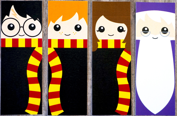 Harry Potter Free Printable Bookmarks.