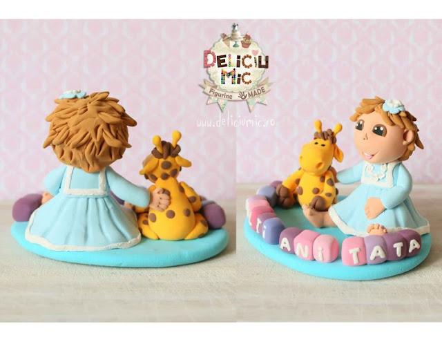figurină tort girafă