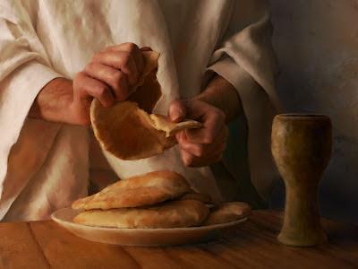 Resultado de imagen de Jesús parte el pan