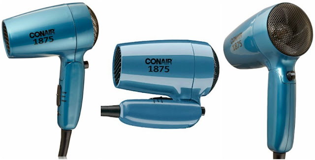Conair Compact 1875 Watt Folding Handle Hair Dryer for only $15 (reg $17)