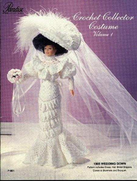 Vestido de Noiva de Crochê Para Barbie Crochet Collector 1