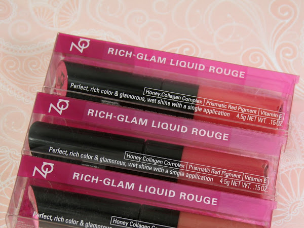 ZA Rich-Glam Liquid Rouge - RD301, PK331 and RD391 Swatches & Review