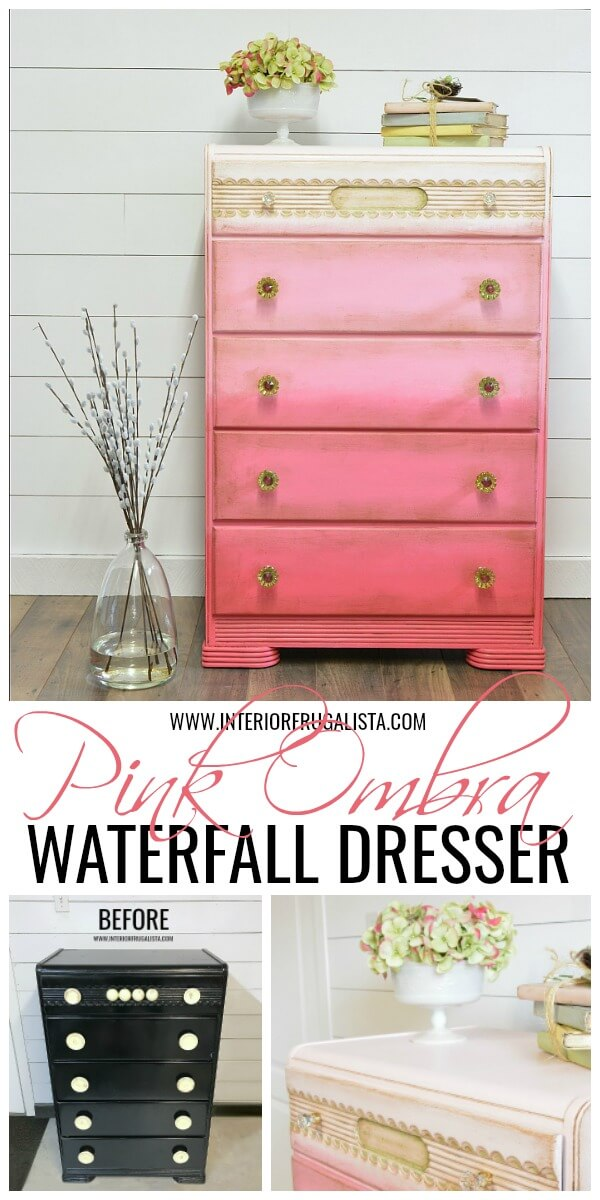 Ombre Waterfall Dresser Before And After