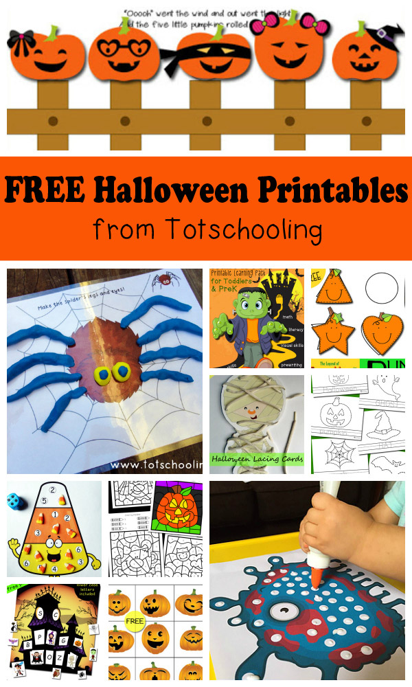 Free Halloween Printables For Kids Totschooling - Toddler, Preschool, Kindergarten  Educational Printables