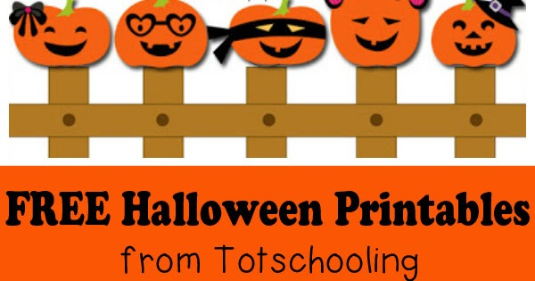 Free Halloween Printables For Kids Totschooling