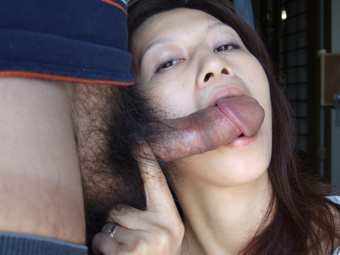 Japanese girl eating cum on food 3