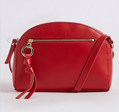 marks & Spencer leather crescent cross body bag
