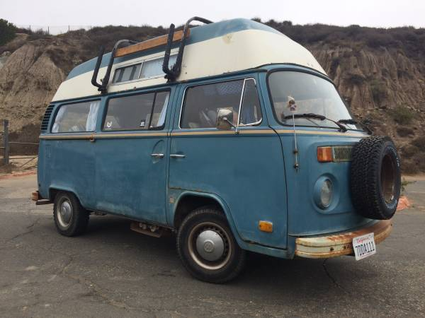 1973 VW Bus High Top Camper Van