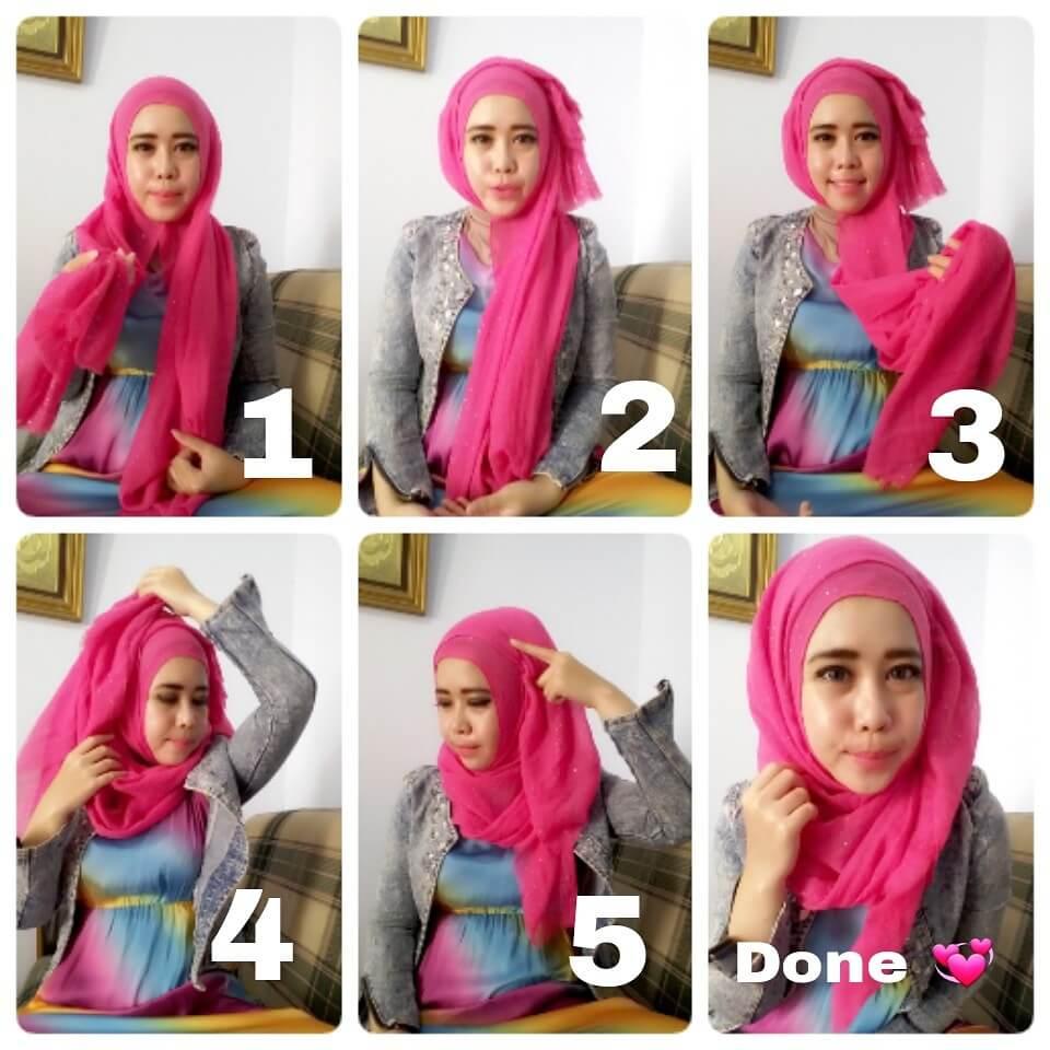 Tutorial Hijab Pashmina Kusut Terbaru