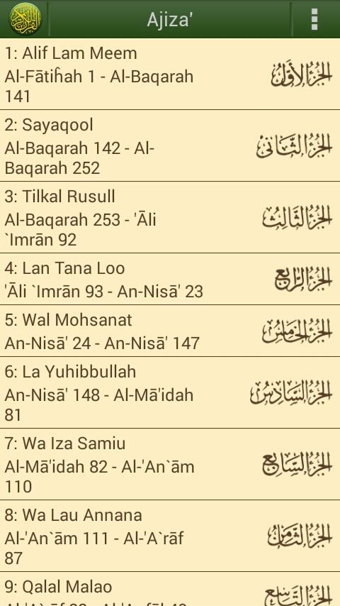 Ayat Al Quran Juz 30 Nusagates