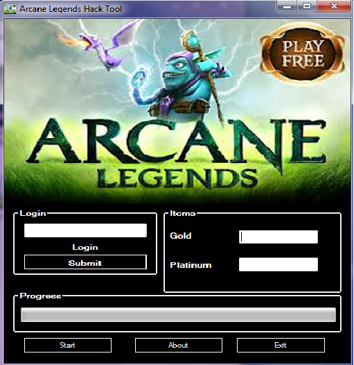 Power Games Hack Tools: Arcane Legends Hack Gold and