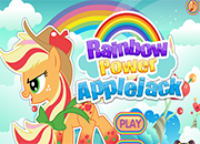 Applejack en Rainbow Power Style