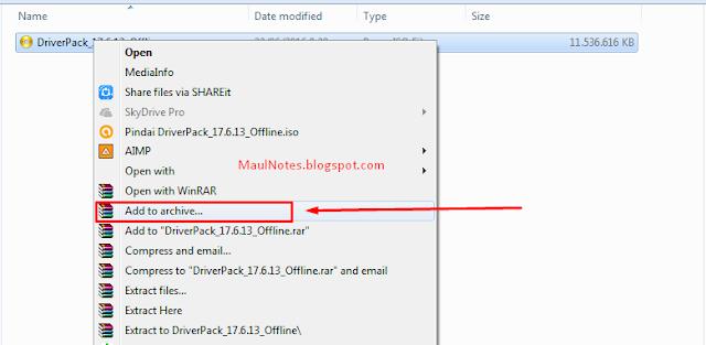 Maulnotes.blogspot.com-Memecah File Menggunakan Winrar 2