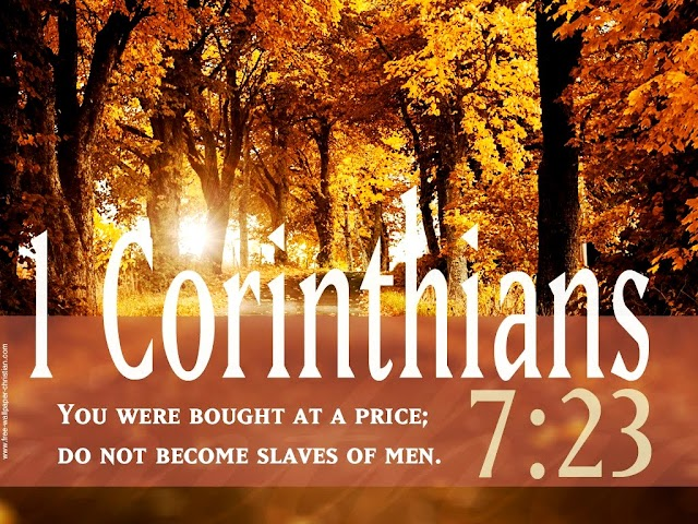Inspirational Bible Verse Wallpaper 1-Corinthians 7:23