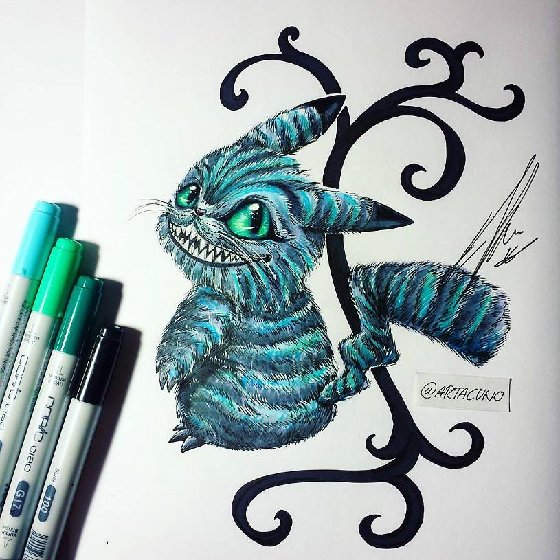 Senhorita Meow Ilustrações Disney + Pokémon