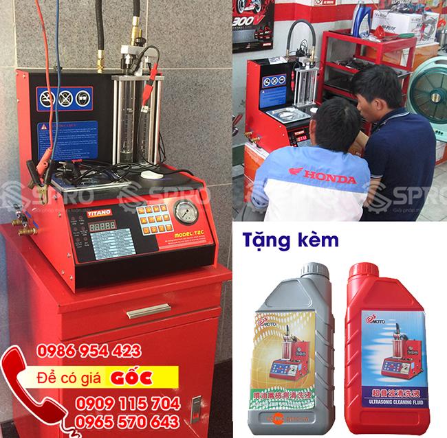 Giải đáp về Máy súc rửa vệ sinh kim phun xăng điện tử titano T2C