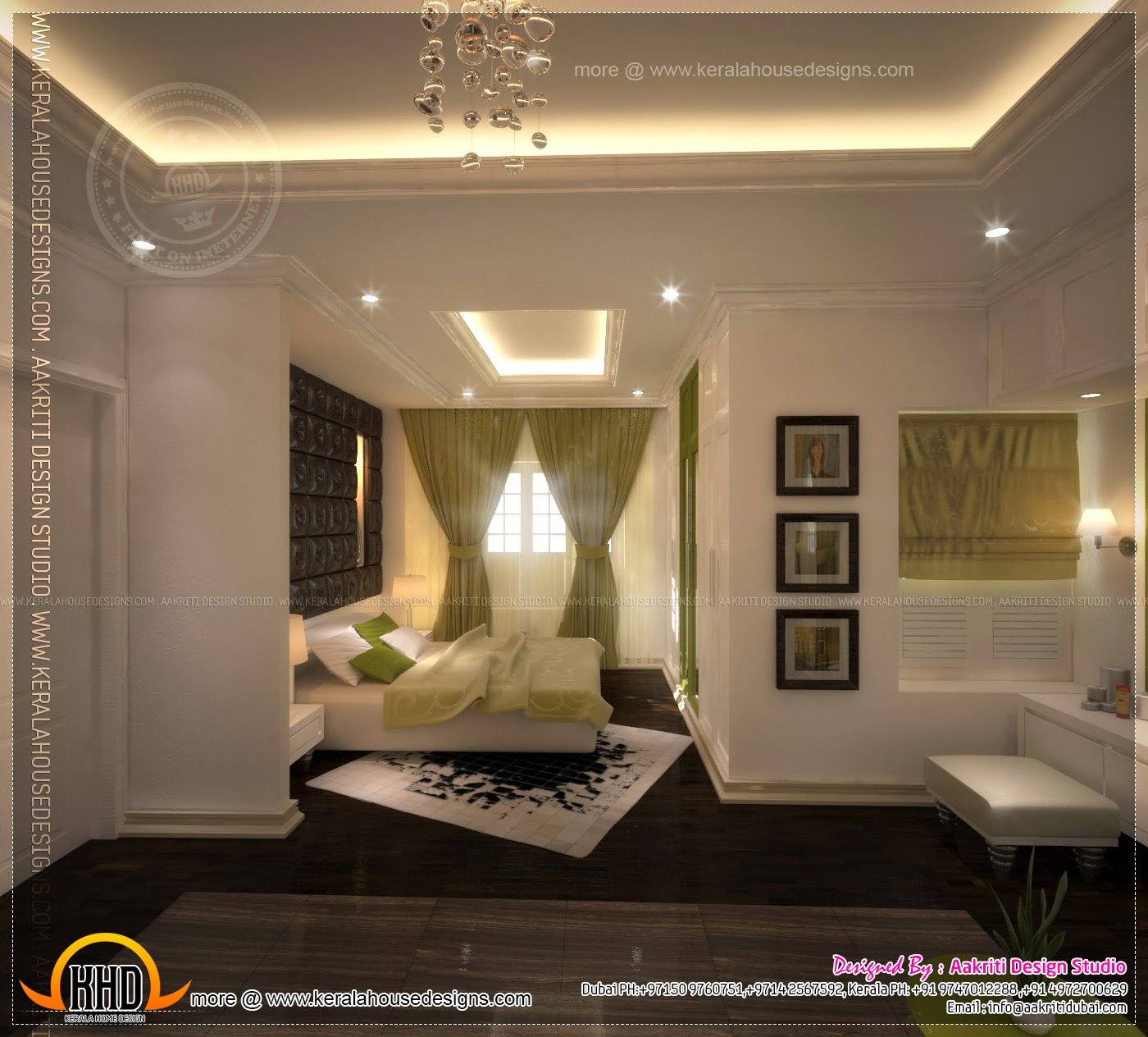 Master bedroom and bathroom interior design - Kerala home ...