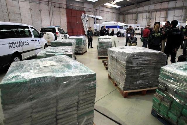 5800 kilos de cocaína fueron incautados en una sola operación en España