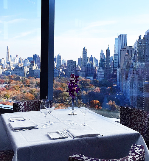 central park, view, New York City, Mandarin Oriental