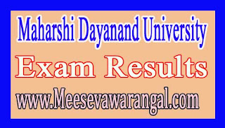 Maharshi Dayanand University M.Sc (CS) DDE IVth / MCA IVth, Vth & VIthSem 2016 Exam Results