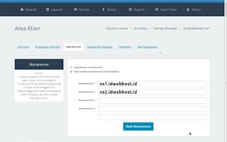 nameserver blogspot untuk idwebhost