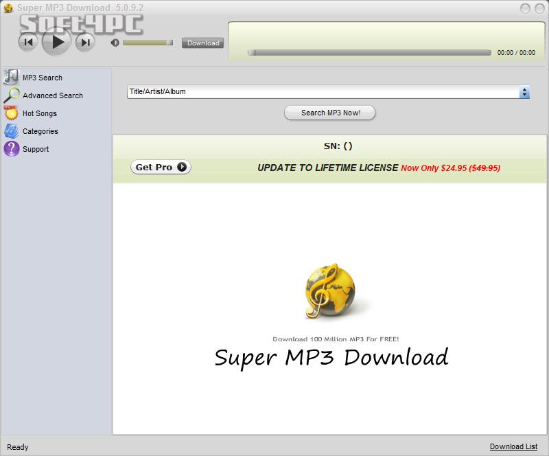 Super MP3 Download 5.0.9.8 + Crack